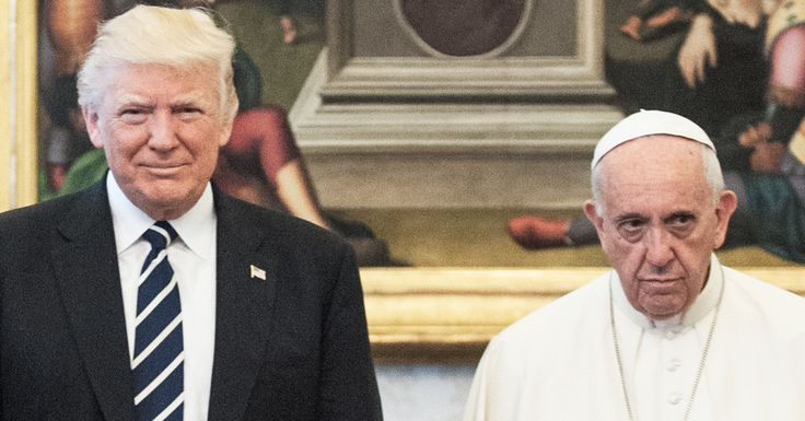 "Pope Francis Looking Super Sad With The Trumps Is A Divine New Meme | HuffPost | ""Pope Francis be like 'The Lord is testing me.'"""