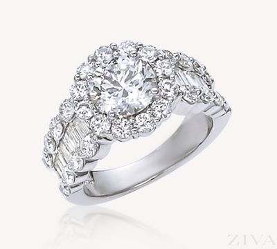 Two Carat Diamond Ring with Halo