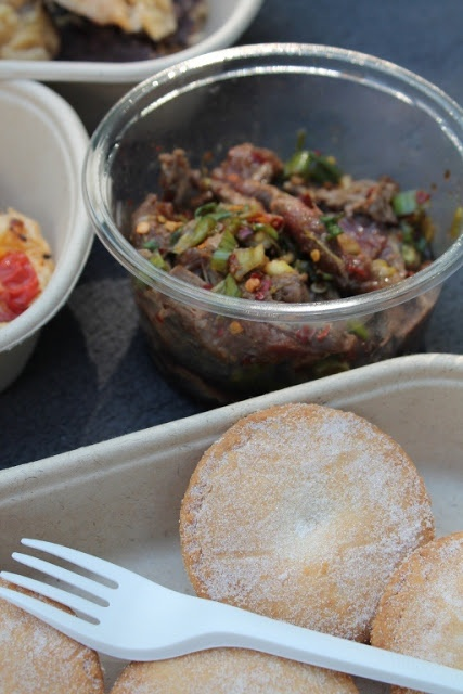 Flavour packed and easy to make - Asian Style Beef Tataki / lunch / dinner >> EcoPack's eco-friendly PLA deli container; bagasse lunch box and PLA fork