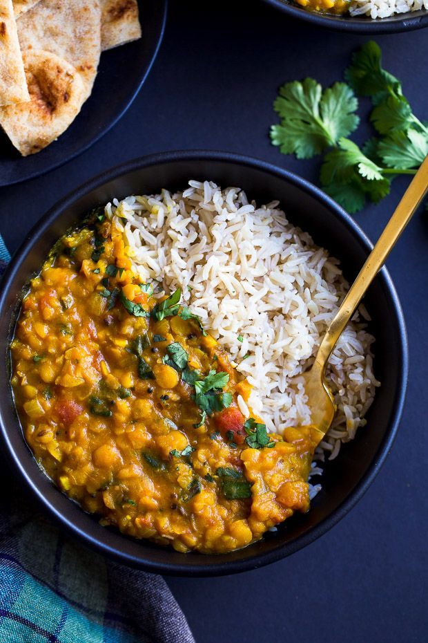 One Pot Spinach Dal- a simple yellow dal made with warming spices, split peas and spinach. A great source of vitamin A, C, iron and plant protein! (vegan + gluten-free) This recipe has been a long time coming, y'all. It all started last year with my slow cooker, when I thought I could throw all …