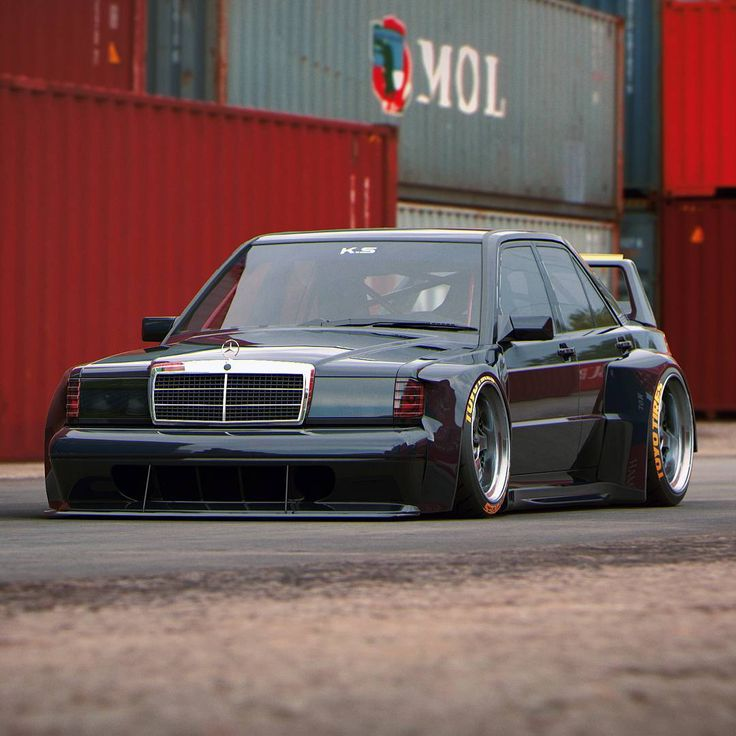 If this image gets more than 5k likes @jamesyesyesbrown has to build this 190 .  #art #design #3d #mercedes #190evo #khyzylsaleem #blacklist #carlifestyle #carthrottle #toyotires