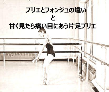 フォンジュ、というステップを知っていますか?バーでやるエクササイズのことも指すんだけれど、実は片足プリエ全部も示します。そんな事言ったら殆どのバレエのステップにフォンジュがある!?そのとおり。甘く見てはダメですね。www.dancerslifesupport.comのブログからです。