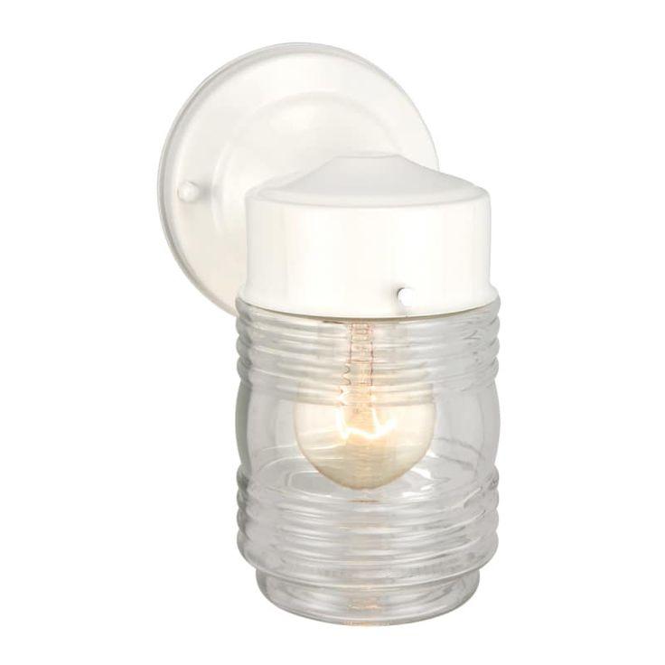Design House 500181 Jelly Jar 1 Light 5 Wide Build Com Porch Lighting Outdoor Wall Lighting Outdoor Sconces