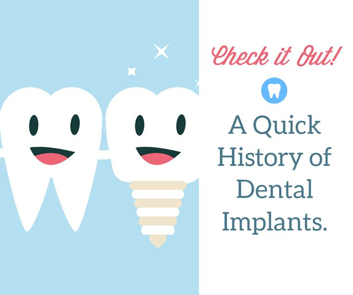 Did you know that dental implants have been around for thousands of years? The ancient Phoenicians used gold wire attached to teeth carved from ivory and archaeologists have even found pieces of stone used to replace teeth! Modern implants really started in the second half of the 20th Century. Today most implants are made with a titanium or zirconium base. #DentalHistory Pediatric Dental World | #HighlandVillage | #TX | http://ift.tt/1m2wlTU
