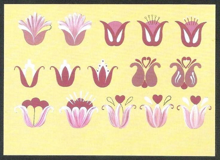 step-by-step Folk ART Flowers - Oksana Volkova - Álbuns Web Picasa