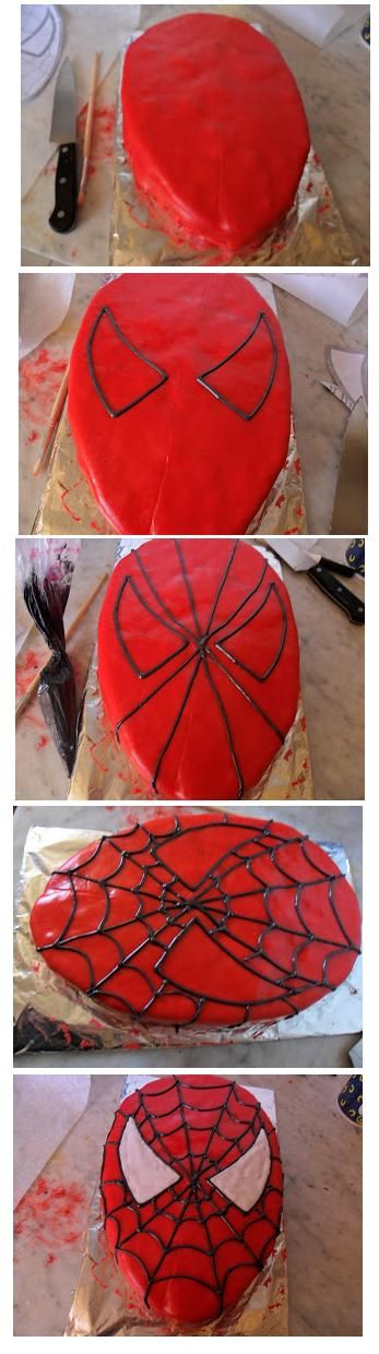 Spiderman Cake how to decorate                                                                                                                                                      More