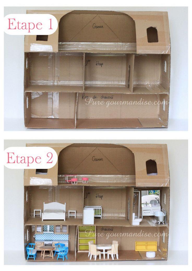 38 best DIY - Maison de poupée images on Pinterest Doll houses - maquette de maison a construire