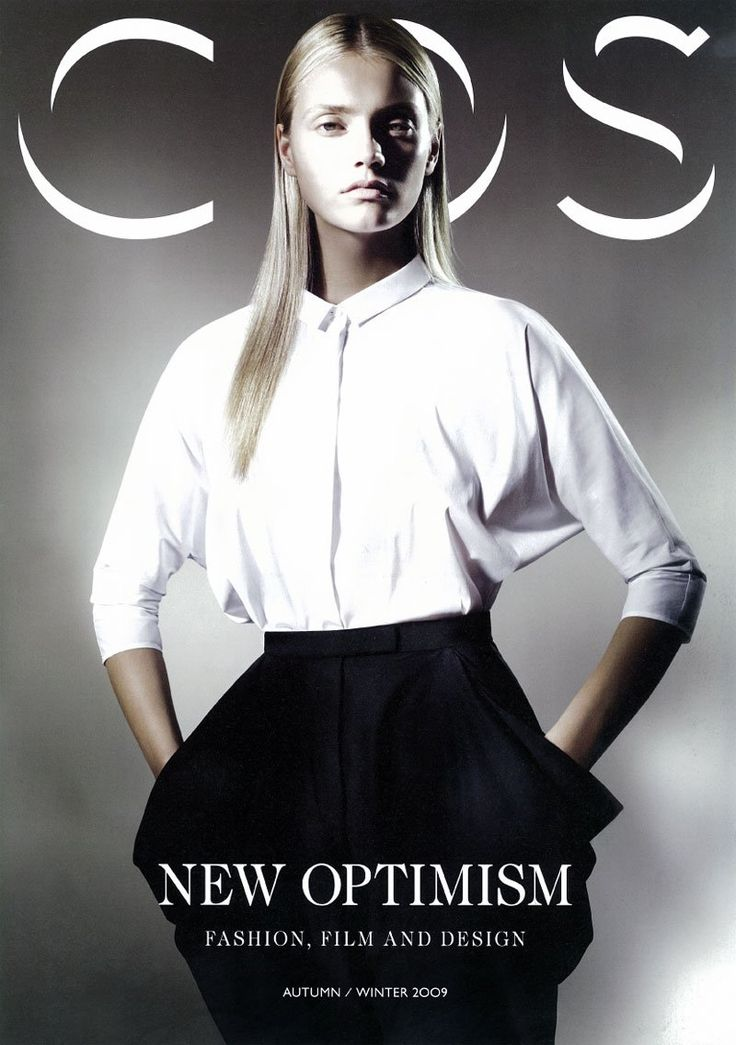 AW09 COS Magazine Cover : Minimal + Classic | Magazine Cover: graphic design, typography, photography | Nordhaven Studio |