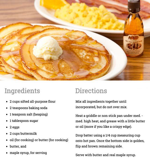 Cracker Barrel buttermilk pancakes!
