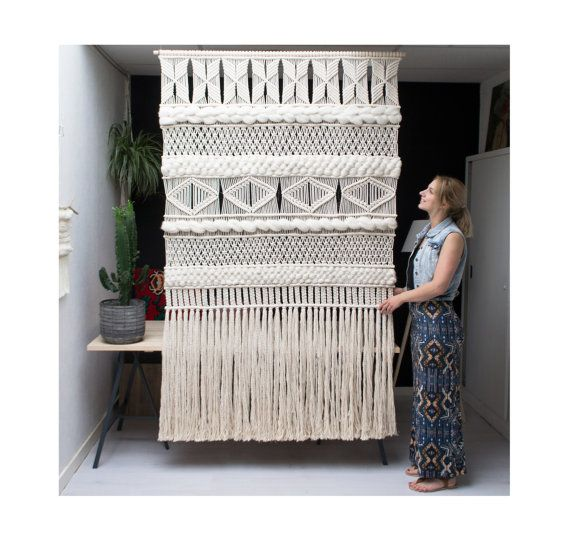 XXL Macrame Wall Screen / Modern Macrame / Wall Art / Large macrame Wall…