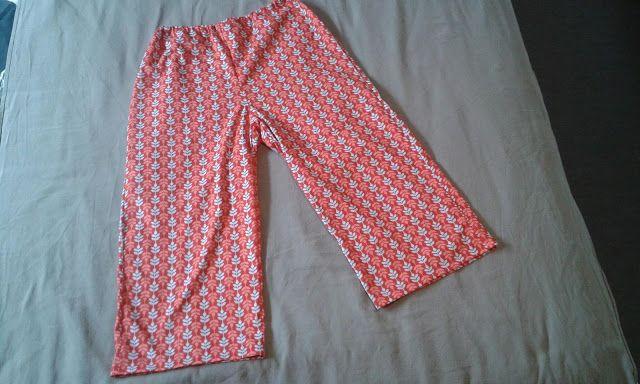 Mijn creatieve hoekje: 7/8 pyjama broek gemaakt