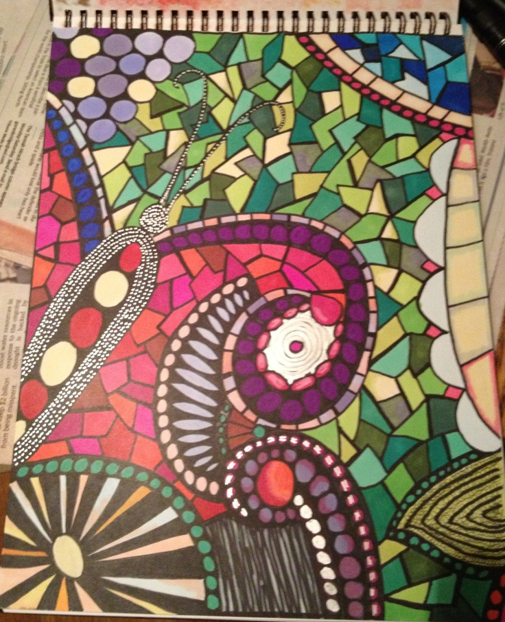 Art journal page...Prismacolor markers #getmessyartjournal