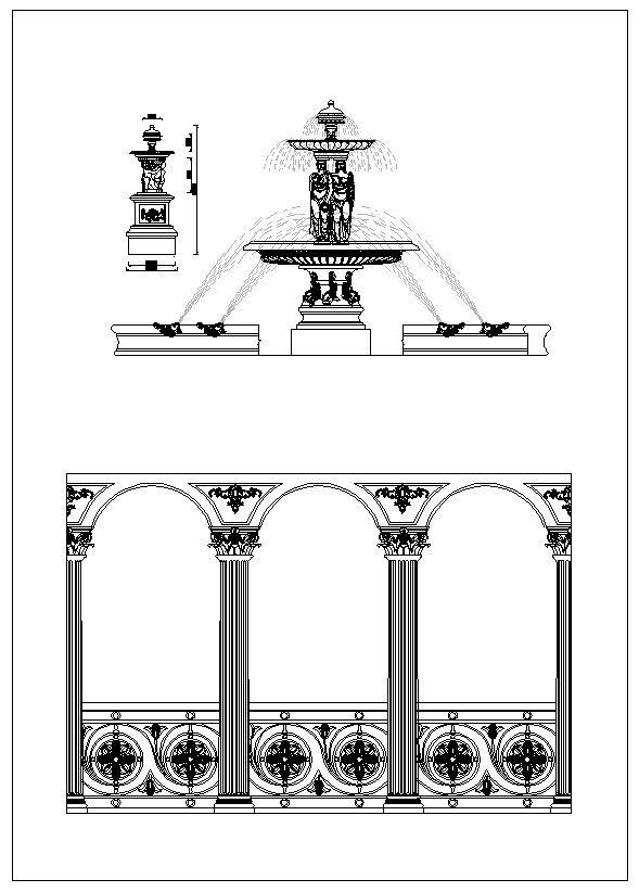 Architektur Zierteile, dekorative Einsätze & Zubehör, Geländer & Treppen …   – 【Cad Drawings Download】CAD Blocks|CAD Drawings|Urban City Design|Architecture Projects| Details│Landscape
