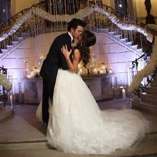 Kevin and Danielle Jonas on their wedding day.