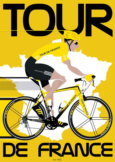 Tour De France Art Print MAKETRAX.net - Bicycle Posters
