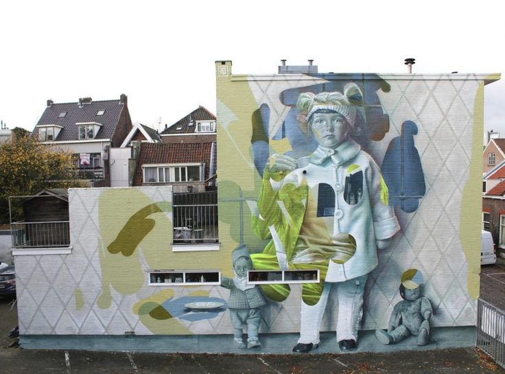 "The dutch duo TelmoMiel  just finished painting another dope piece entitled 'Not as creepy as I seem'  in Dordrecht, curated by Stichting Dordrecht Street Art. About the Mural TelmoMiel said: ""The picture we used as reference was from an old photo database, that had pictures of people in Dordrecht in the 1930-1940's. This particular girl we ..."