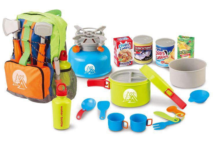 Little Explorer 13-Piece Camping Cooker Play Set