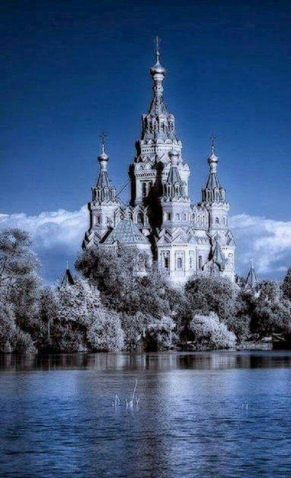 Castle in Peterhof, Russia
