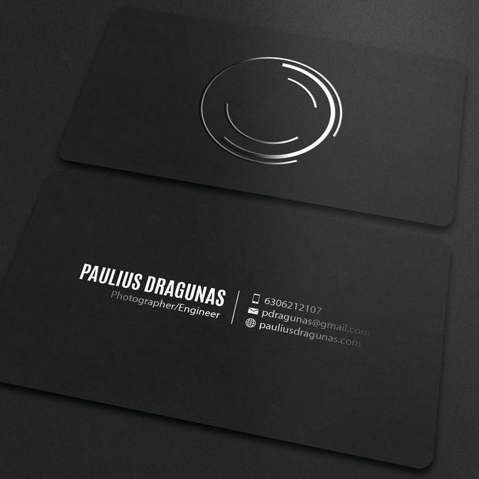 Freelance Create A Minimalistic Spot Uv Business Card For A Photographe Spot Uv Business Cards Business Card Design Photography Business Card Design Minimalist
