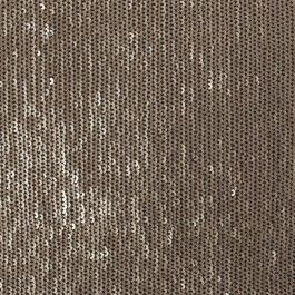 This is the coolest fabric! Baby sequins on black mesh. With the nap the sequins are gold, but rub your fingers against the nap and you can change the sequins to the reverse silver side. Create your own designs and patterns by reversing the sequins!