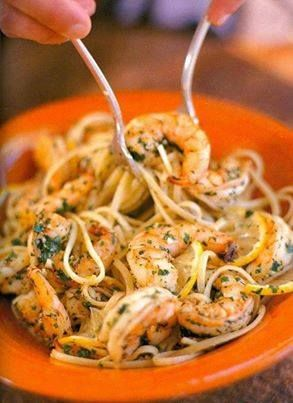 Linguine with Shrimp Scampi - Click picture for recipe!