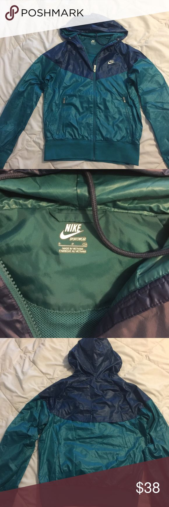 Nike running jacket. Men's small. Breathable running jacket, men's small fits like women's medium. Zip pockets and air vent in back are great for running. Never been worn to run in 😳. Nike Jackets & Coats Utility Jackets