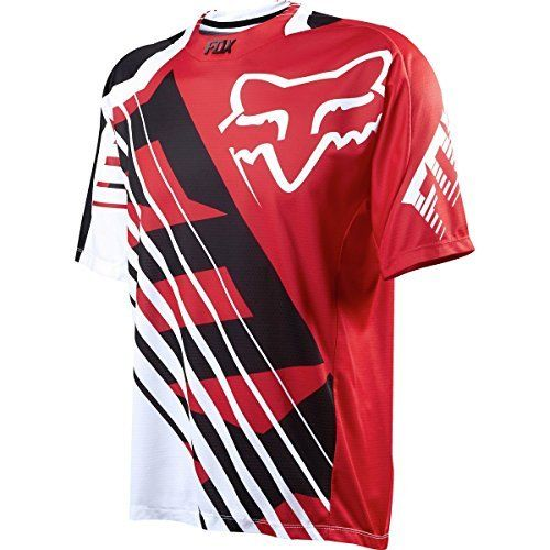 Fox Racing Demo Bike Jersey  Short Sleeve  Mens Savant Red M by Fox Racing ** Read more reviews of the product by visiting the link on the image.Note:It is affiliate link to Amazon.