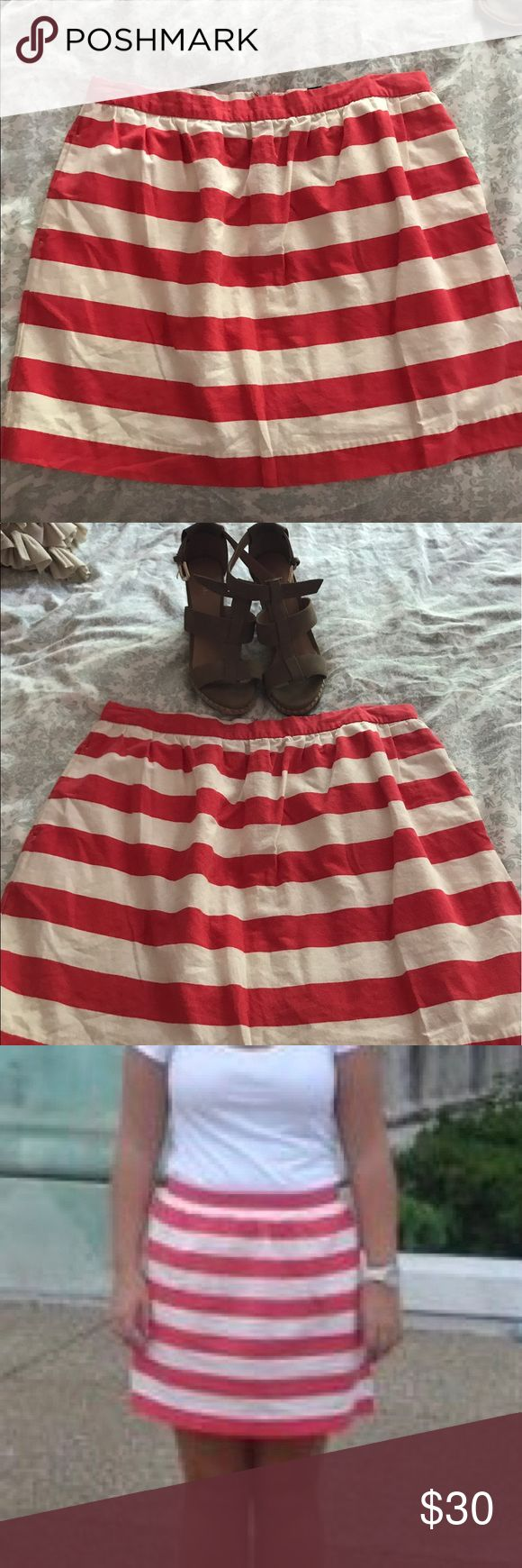 "Tommy Hilfiger striped skirt Cute skirt from Tommy- very versatile. I've worn with both heels and flats. I'm 5'5""- picture with it on me for an idea of length. Tommy Hilfiger Skirts Mini"