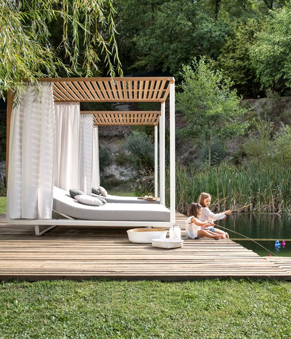 Pavilion Daybed | Outdoor daybed, Luxury outdoor furniture ... on Living Spaces Outdoor Daybed id=34950