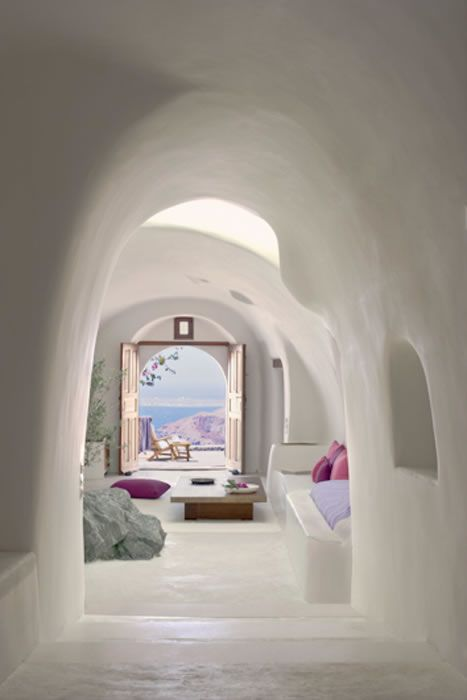Chic cave living.The Perivolas on Santorini.