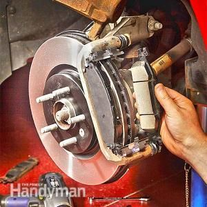 How to Change Front Brake Pads: Do it yourself — save a bundle! Read more: http://www.familyhandyman.com/automotive/car-brakes/how-to-change-front-brake-pads/view-all