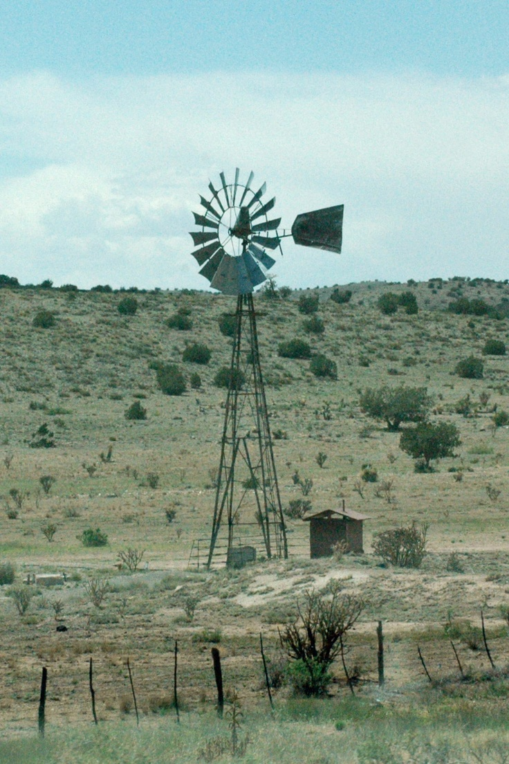 Windmill West of Capitan, NM. (Photo by Carrol Hillis)