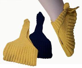Sling-Heel Vintage Style Slippers - Knit Pattern (PDF Download)
