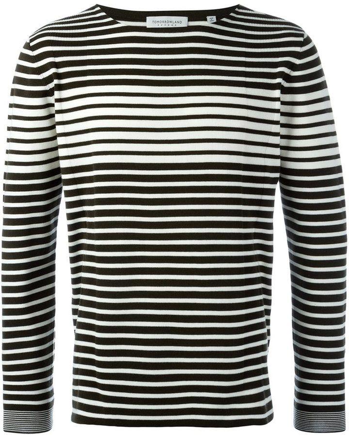 Tomorrowland striped crew neck jumper