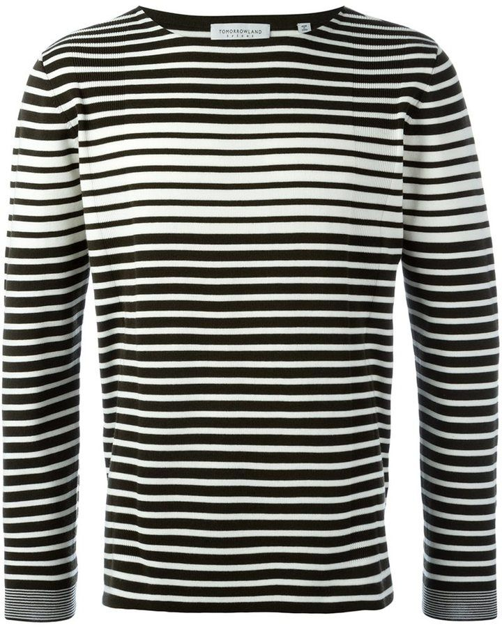 Tomorrowland striped crew neck jumper