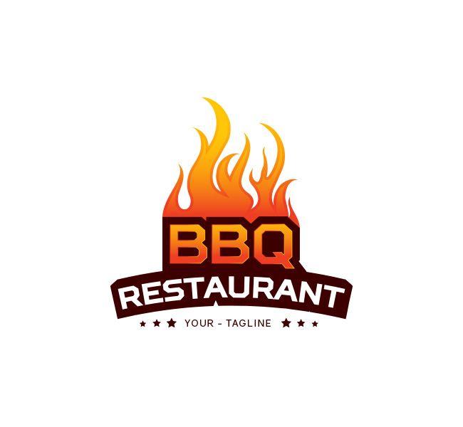 Bbq Restaurant Logo Business Card Template