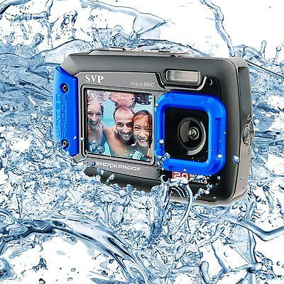 SVP AQUA 8800 BLUE  WATERPROOF SHOCKPROOF DIG.CAMERA+VIDIO DUAL LCD SCREENSS  | Cameras & Photo, Digital Cameras | eBay!