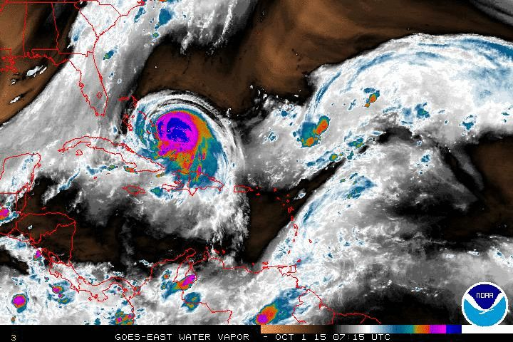 Hurricane Joaquin on October 1, 2015 Current Caribbean Cruise Ship Weather Satellite. Cruise Ship Caribbean Port Forecasts