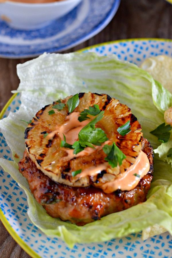 Lettuce Wrapped Teriyaki Turkey Burgers - Mountain Mama Cooks