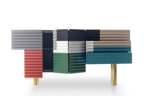 Armadietti metallici moderni e di design di Doshi Levien