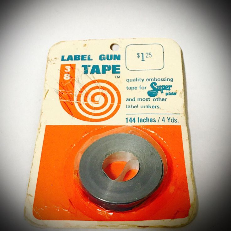 A personal favorite from my Etsy shop https://www.etsy.com/listing/518667710/vintage-1968-label-maker-tape-in