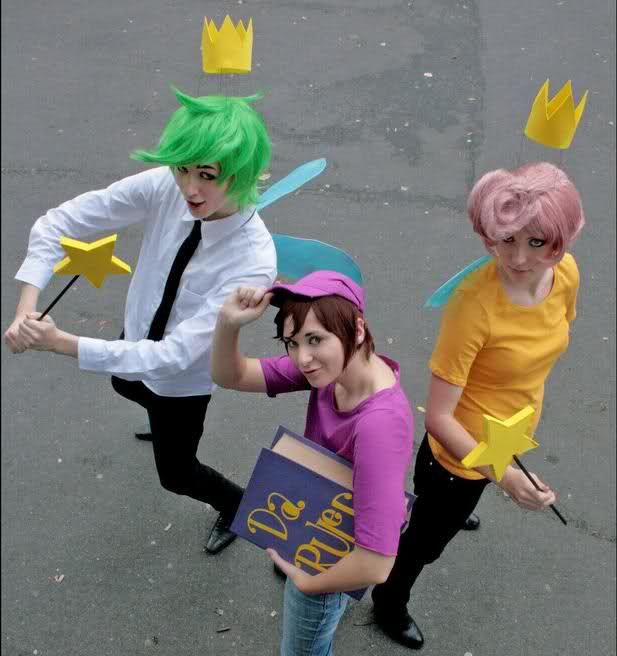 anime cosplay ideas for beginners: Fairly Odd Parents Cosplay, Timmy Turner, Wanda, Cosmo, Da
