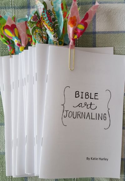 Click here to download a free copy of my mini book Bible Art Journaling by Katie Harley