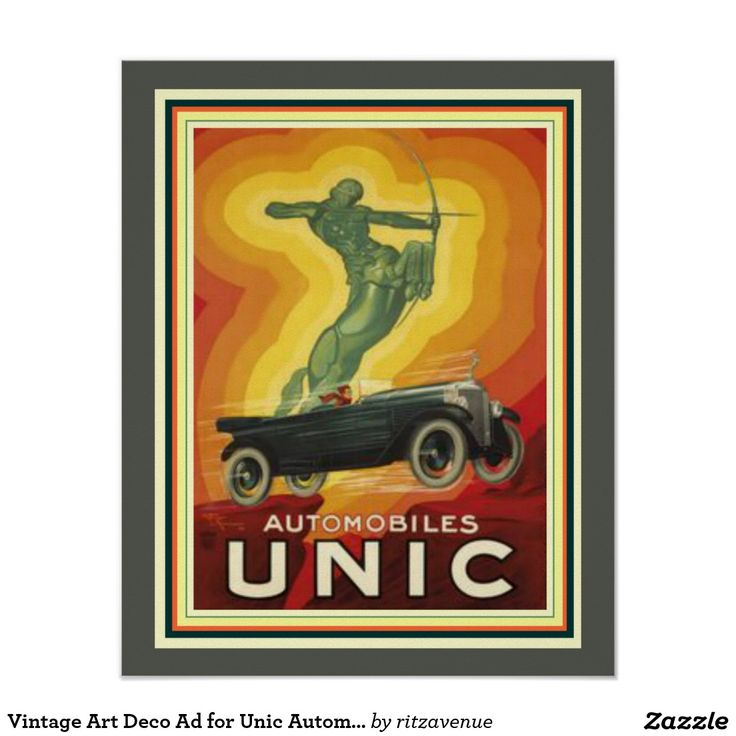 Vintage Art Deco Ad for Unic Automobiles 16 x 20 Poster  $15.00