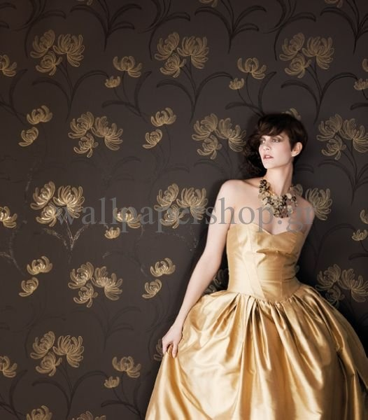 Wallpapers :: Romantic :: Silence :: Silence Whisper Gold No 7312 - WallpaperShop