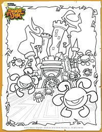 Animal Jam Phantom Fortress Coloring Page Hanna Animal
