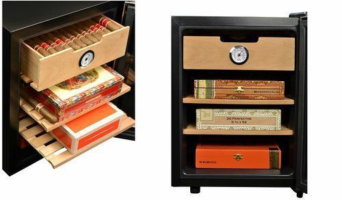 Humidors-For-Cigars-Cooling-Cabinet-Electric-Tobacco-For-250-Cigars-Led-Light