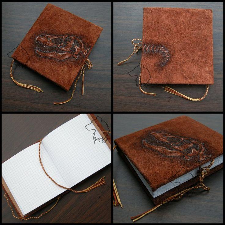 T-Rexbook - handmade notebook by Dark-Lioncourt.deviantart.com on @DeviantArt