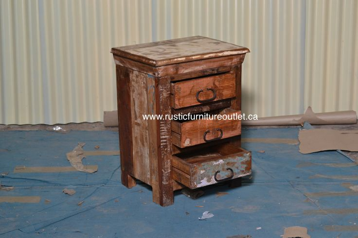 """Crafted from recycled wood solids in a multi-colored hand-painted finish ensuring bonafide originality, this Accent Chest offers the faded colors of an heirloom as well as an alluring rustic charm.   dimensions 18L"""" x 24H"""" x 14D""""  http://www.rusticfurnitureoutlet.ca/recycledwoodfurn.html"""
