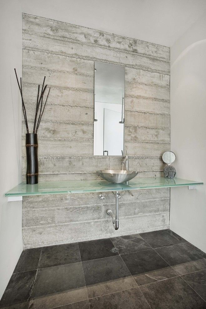 Paint for Concrete Walls Contemporary Bathroom with Californina in San Francisco